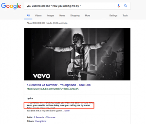 how to search for the lyrics of a song your dont remember